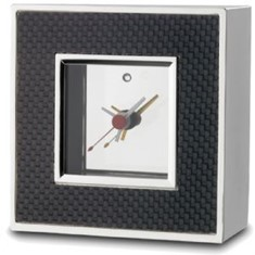 Carbon Fibre Desk Clock With Alarm