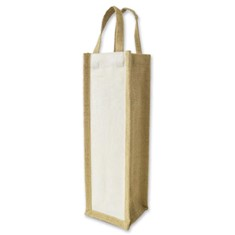 Jute Single Bottle Wine Carrier
