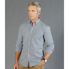 WESTGARTH - GINGHAM LONG SLEEVE CASUAL SLIM FIT SHIRT