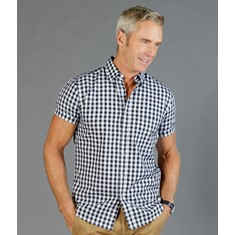 DEGRAVES - ROYAL OXFORD SHORT SLEEVE CASUAL SLIM FIT SHIRT