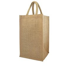 Four Bottle Jute Tote Bag