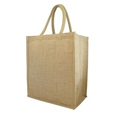 Six Bottle Jute Tote Bag