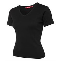 Ladies Short Sleeved Rib Tee