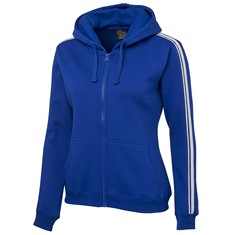 Ladies Dual Stripe Full Zip Hoodie