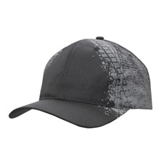 Breathable Poly Twill Cap with Tyre Print