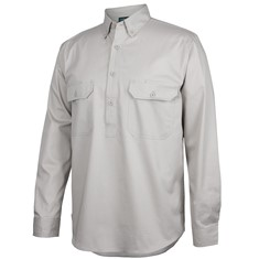 C OF C LONGREACH L/S CLOSEFRONT SHIRT