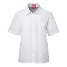 Ladies Short Sleeved Poplin Shirt