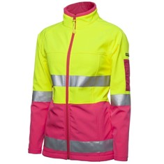 Ladies Hi Vis (D+N) Softshell Jacket with 3M Tape