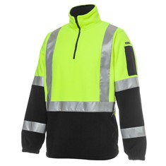 Hi Vis (D+N) H Pattern Biomotion 1/2 Zip Polar Fleece