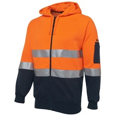 Hi Vis Day/Night Full Zip Fleecy Hoodie