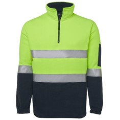 Hi Vis Day & Night 1/2 Zip Polar Fleece
