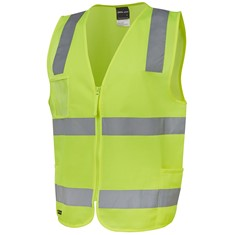 Hi Vis Day/Night Zip Safety Vest