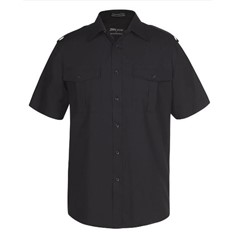 Mens Epaulette Shirt Short sleeved