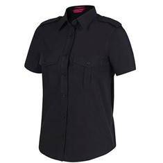 Ladies Epaulette Shirt Short Sleeved