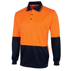 Hi Vis Long sleeved Jacquard Polo