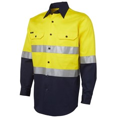 Mens Hi-Vis Day&Night Long Sleeve Work Shirt