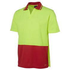 Hi Vis Short Sleeved Non Button Polo