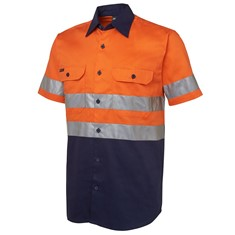Mens Hi-Vis Day/Night Short Sleeve Work Shirt