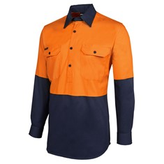Hi Vis Long Sleeved Close Front Shirt