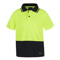 Hi Vis Non Cuff Traditional Polo Kids