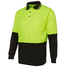 Hi Vis Traditional Long Sleeve Polo