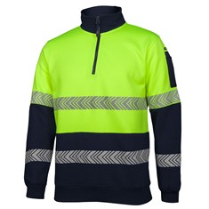 HI VIS ½ ZIP SEGMENTED TAPE FLEECE