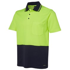 Hi Vis Non Cuff Short Sleeved Cotton Polo