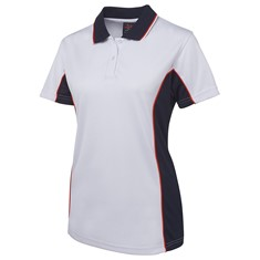 PODIUM LADIES CONTRAST POLY POLO