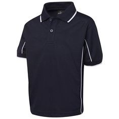 Kids Short Sleeved Piping Polo