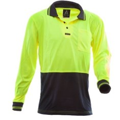 Hi Vis Microfibre Long Sleeved Polo