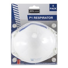 JB's BLISTER (5PC) P1 RESPIRATOR MASKS