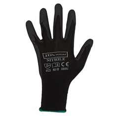 JIMS MOWING JB's BLACK NITRILE BREATHABLE GLOVE (12 PK)