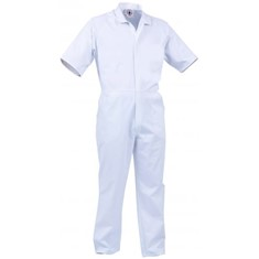 TWZ 240g Poly Cotton Nylon Zip Short Sleeved Food Overall