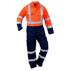 FLAMEGUARD 13CAL COTTON FR, HI-VIS DAY/NIGHT OVERALL
