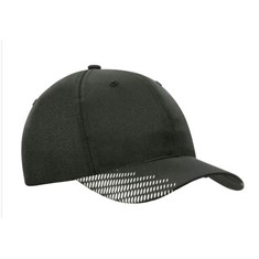 6 Panel Breathable Poly Twill Cap with Peak Flash Print