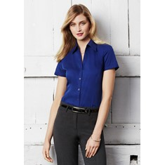 Ladies Short Sleeve Stretch Metro Shirt