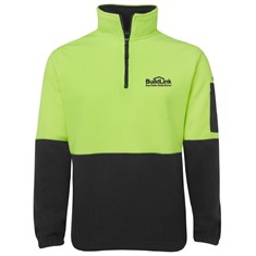 Hi Vis Half Zip Day only Fleece