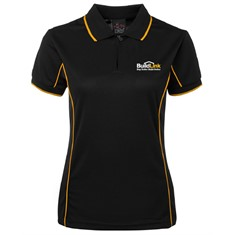 Short Sleeve Piping Polo - Ladies