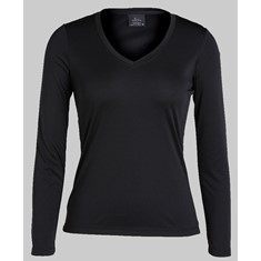 Neck Slinky Long Sleeved Tee