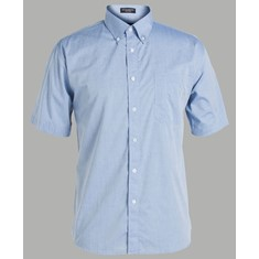 Mens Short Sleeved Fine Chambray Shirt