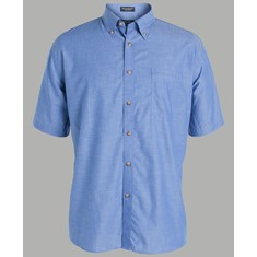 Mens Short Sleeved Indigo Shirt