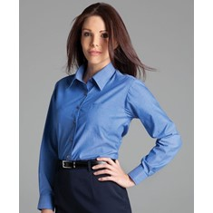 Ladies Long Sleeved Indigo Shirt