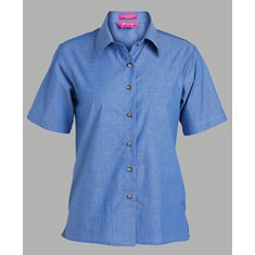 Ladies Short Sleeved Indigo Shirt