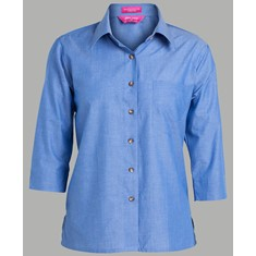 Ladies 3/4 Indigo Shirt