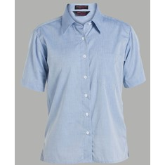 Ladies Short Sleeved Fine Chambray Shirt