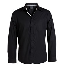 Contrast Placket Shirt Long Sleeved