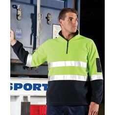 Hi Vis Day/Night 1/2 Zip Polar Fleece