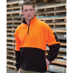 Hi Vis 1/2 Zip Polar Fleece