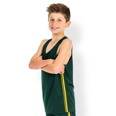 PODIUM DUAL STRIPE SINGLET KIDS