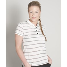 LADIES ALT STRIPE POLO